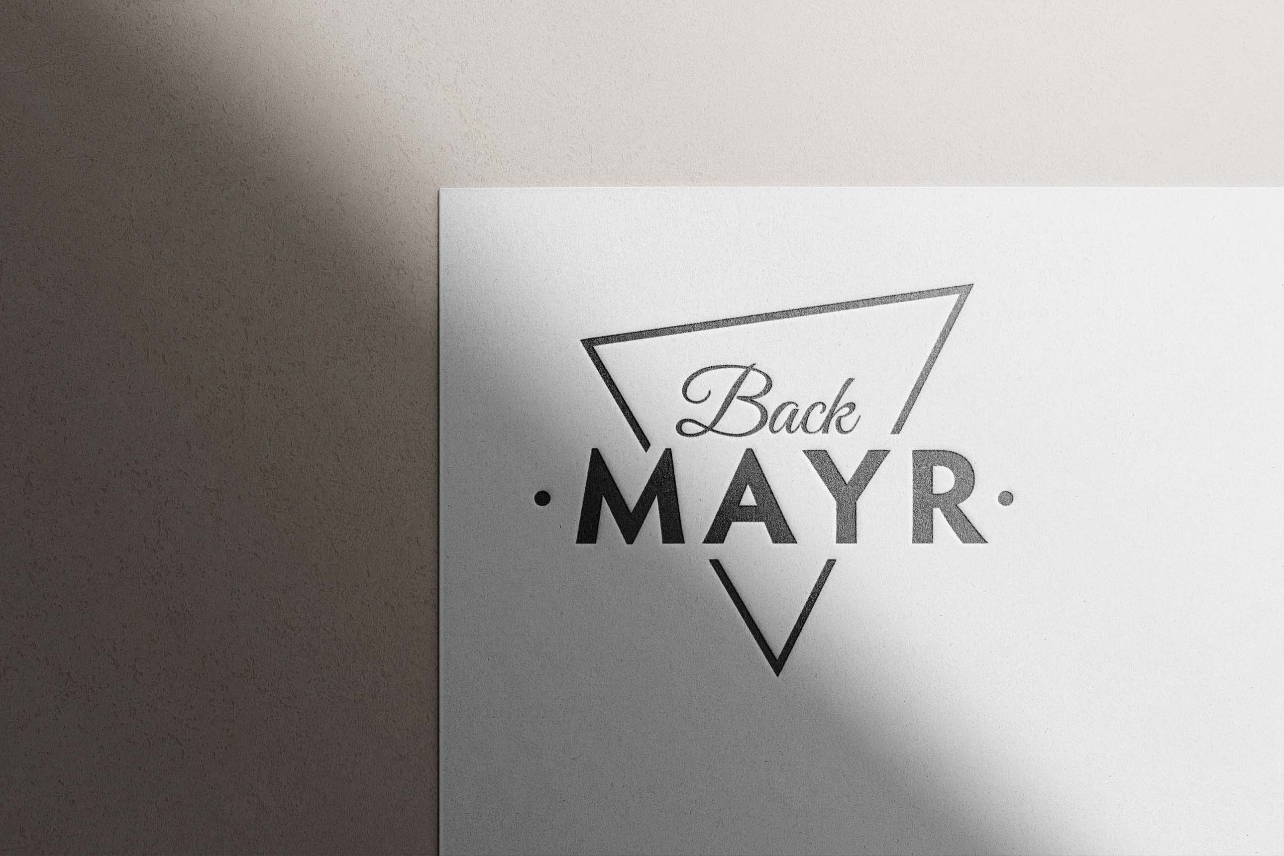 Logodesign und Logoüberarbeitung für Back Mayr Mindelheim