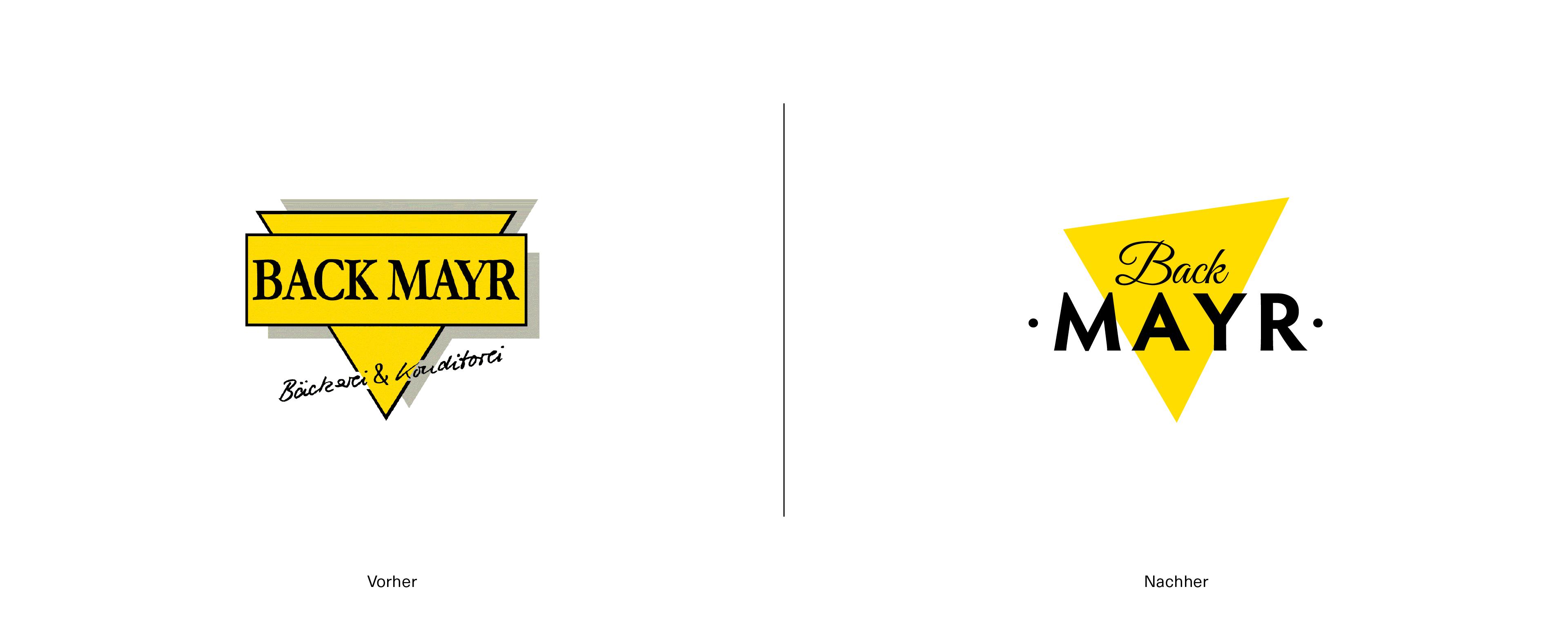 Logorelaunch für Bäckerei Back Mayr aus Mindelheim im Unterallgäu