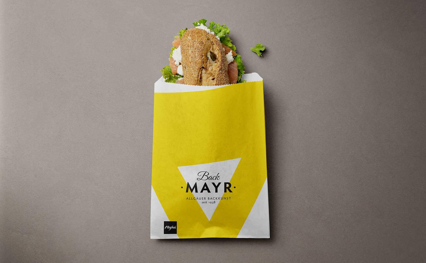 Packaging Design für klassische Bäckertüten