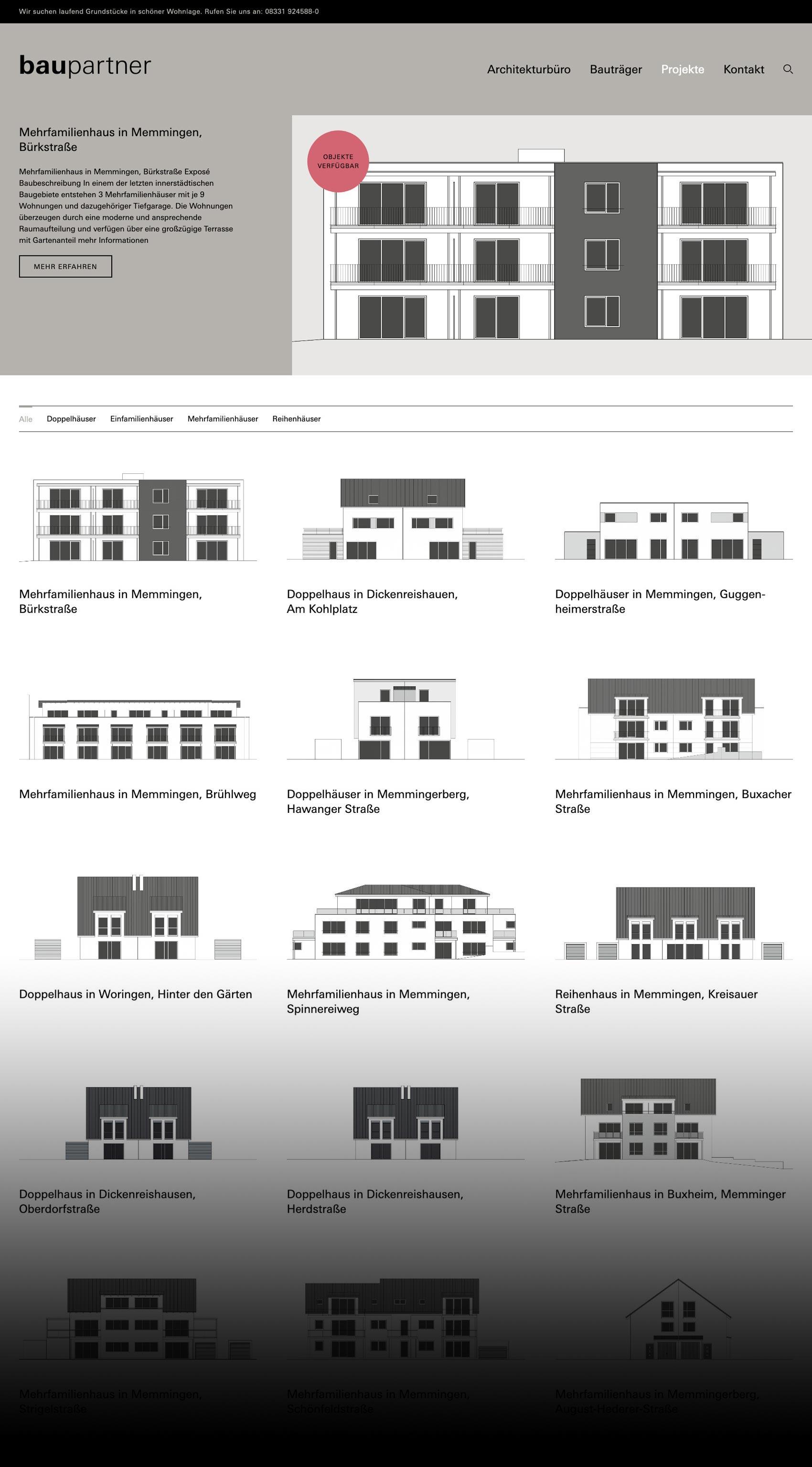Internetauftritt Architekturbüro baupartner