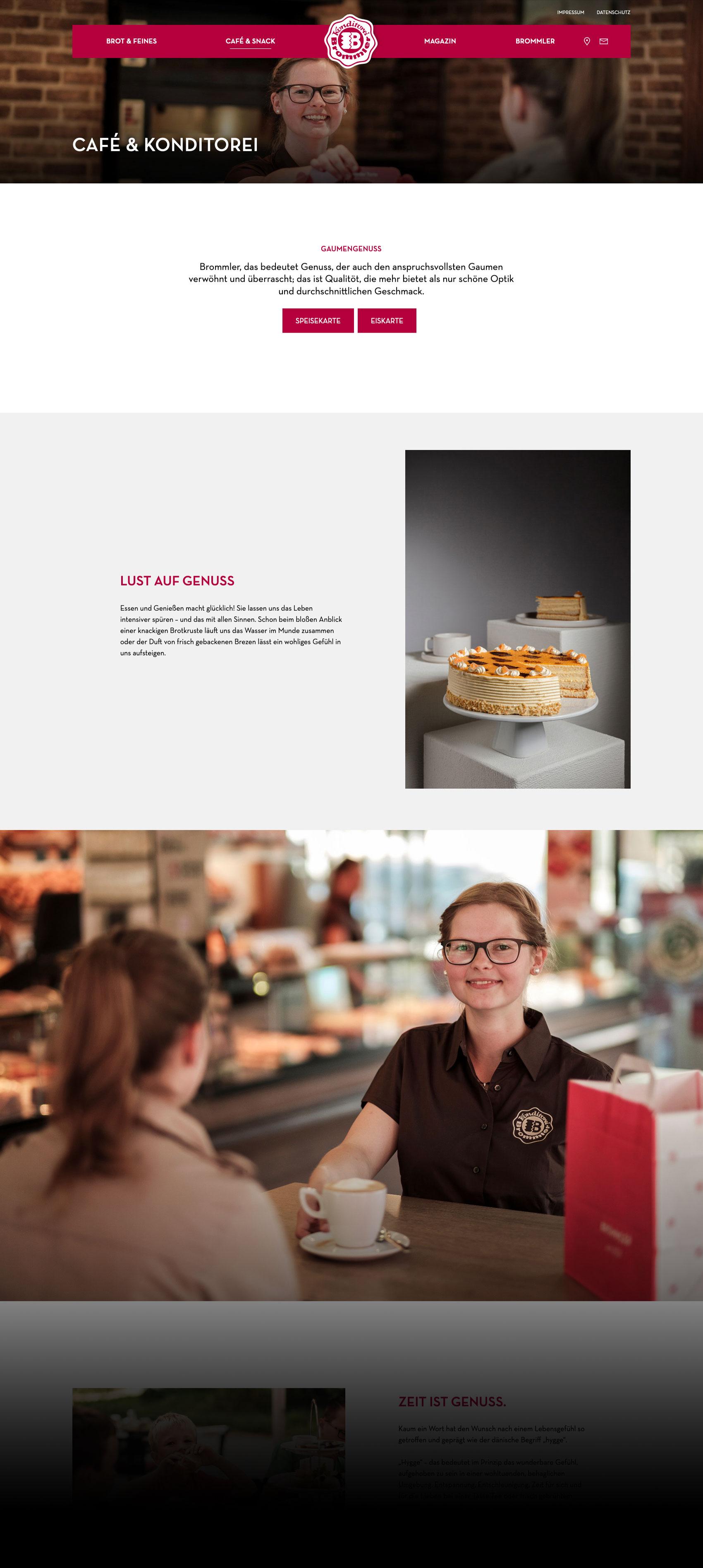 Webdesign mit Genuss: Konditorei Bäckerei Brommler aus Memmingen