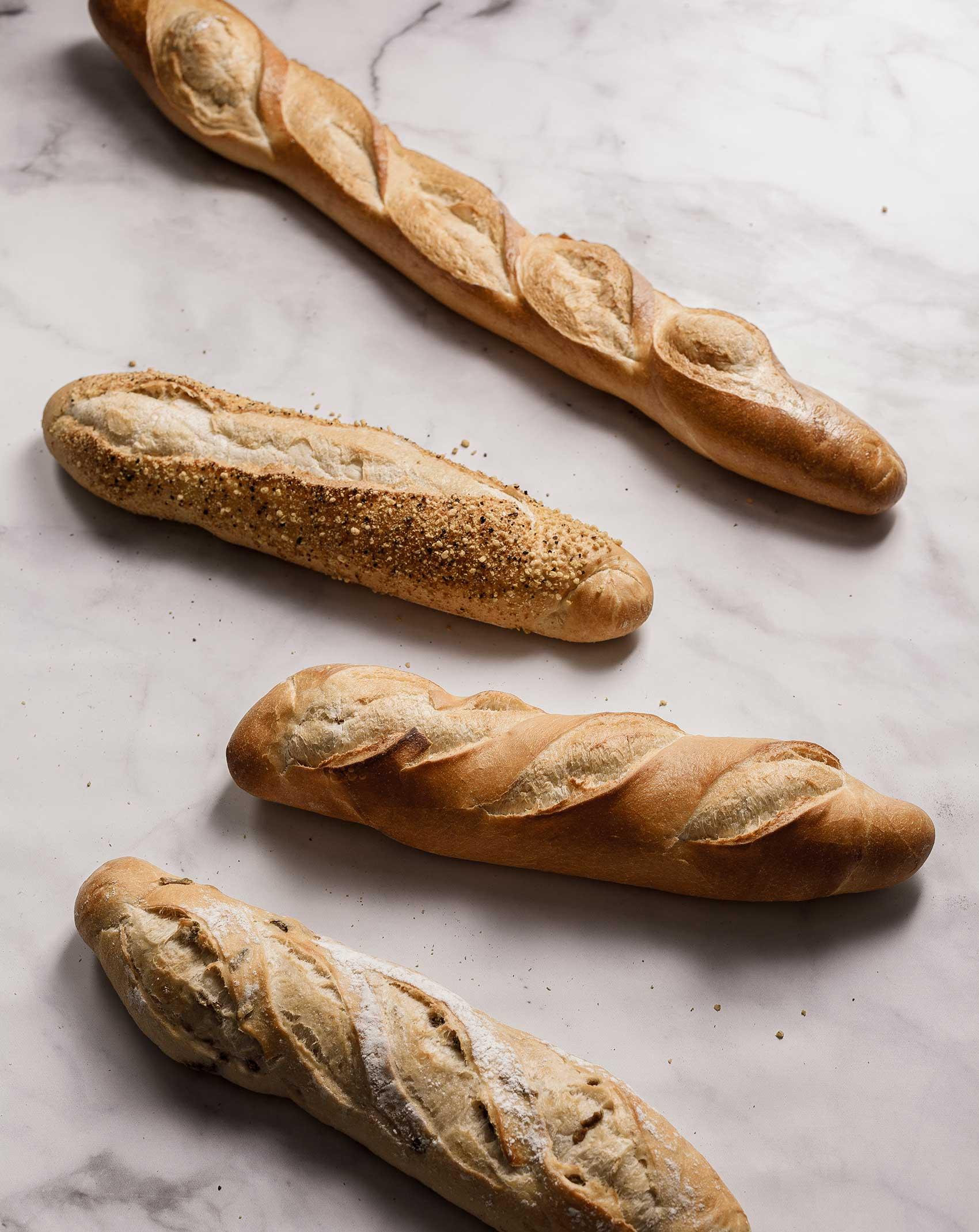 Frisches Baguette aus dem Ofen der Bäckerei Brommler Memmingen