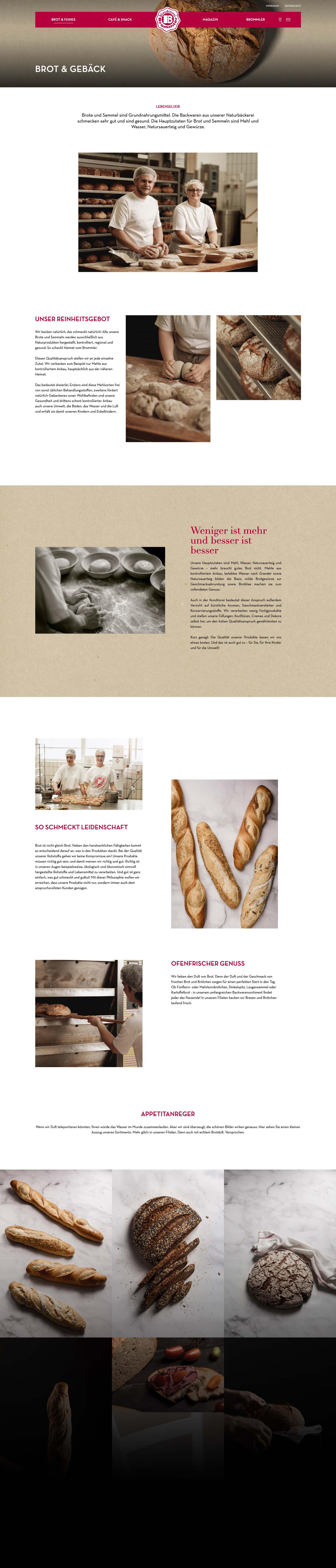 Website für Konditorei Brommler aus Memmingen