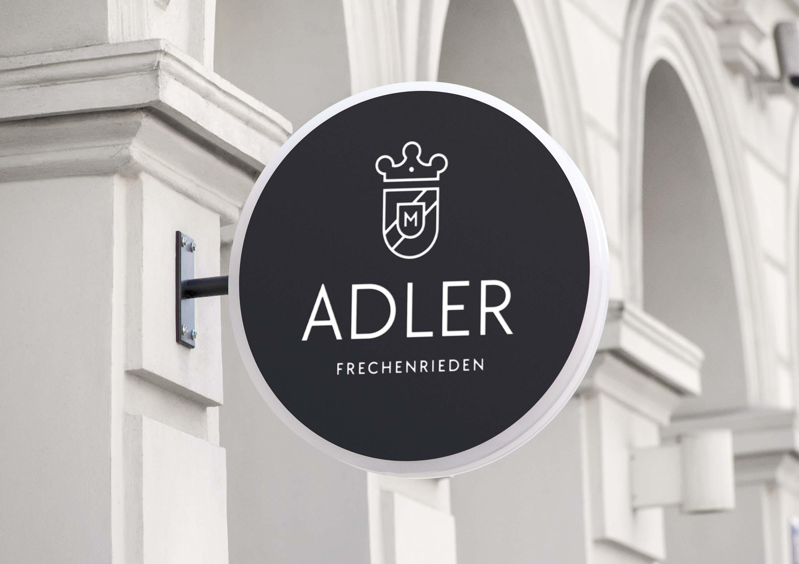Logodesign für Gasthof Adler aus Frechenrieden im Allgäu