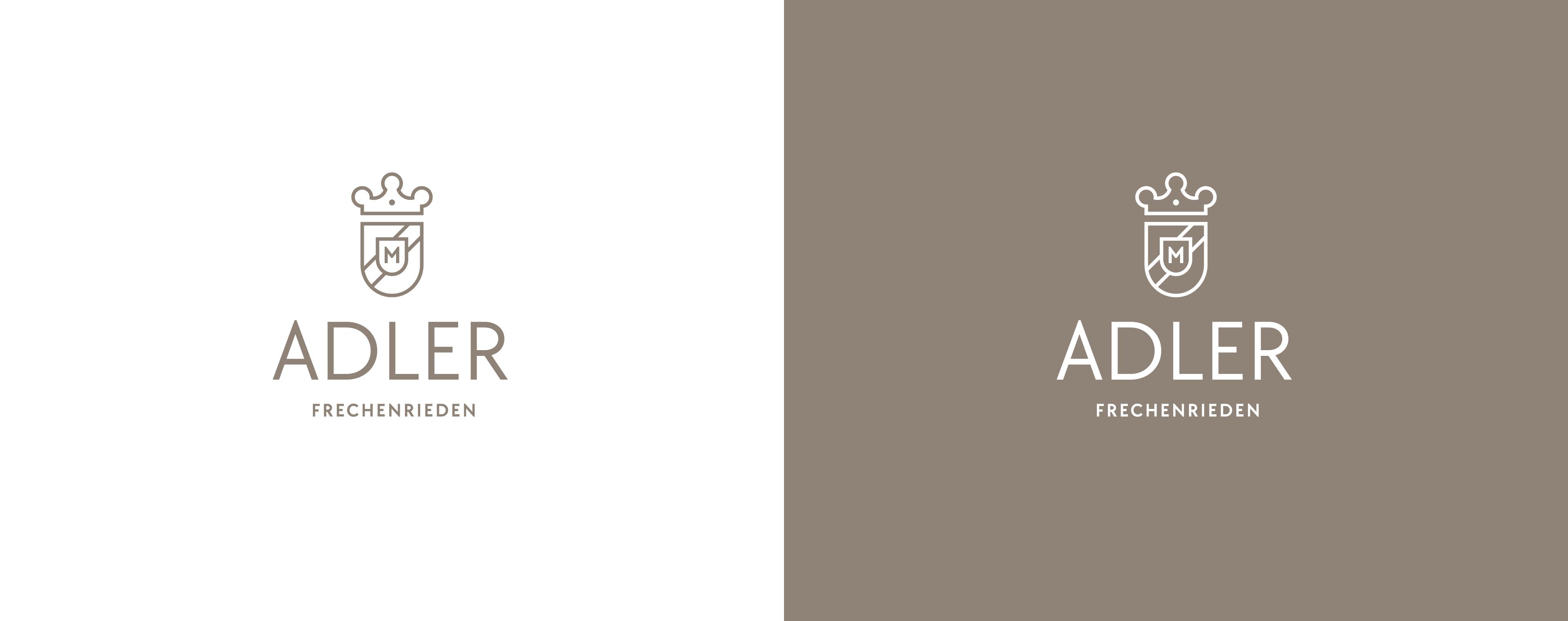 Logoentwicklung und Design eines Wappens für den Landgasthof Adler