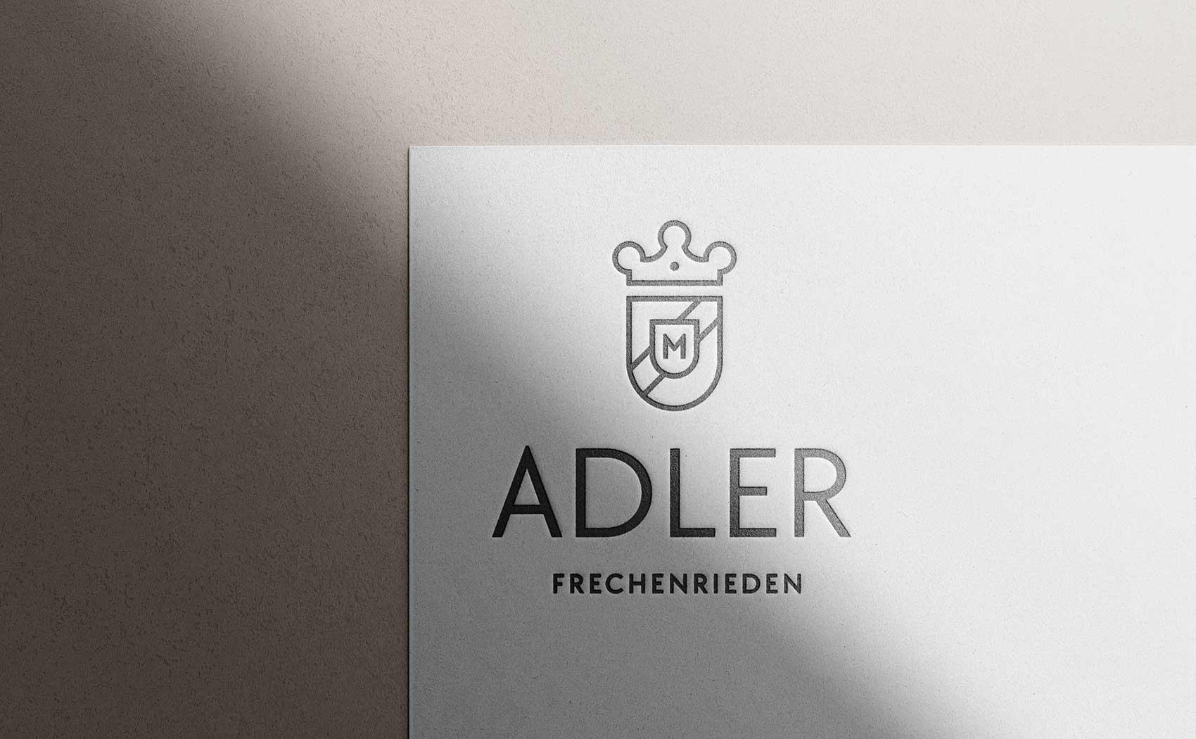 Logoentwicklung und Design eines Wappens für den Gasthof Adler von Bernhard Munding
