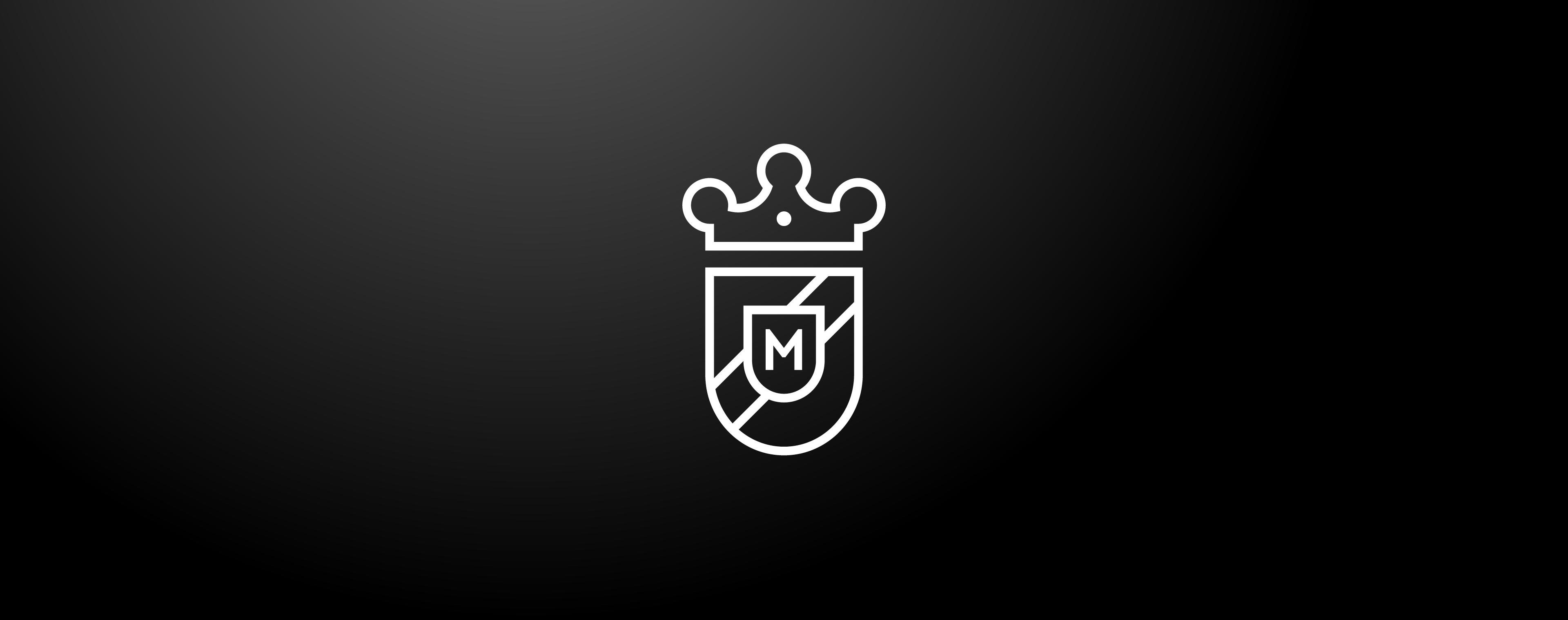 Modern interpretiertes Wappendesign für den Gasthof Adler
