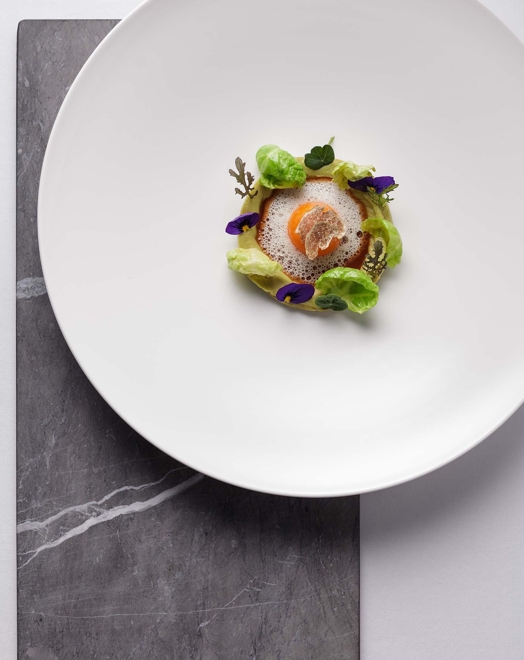 Foodfotografie für das mit einem Michelin-Stern ausgezeichnete Gourmetrestaurant Aubergine in Starnberg
