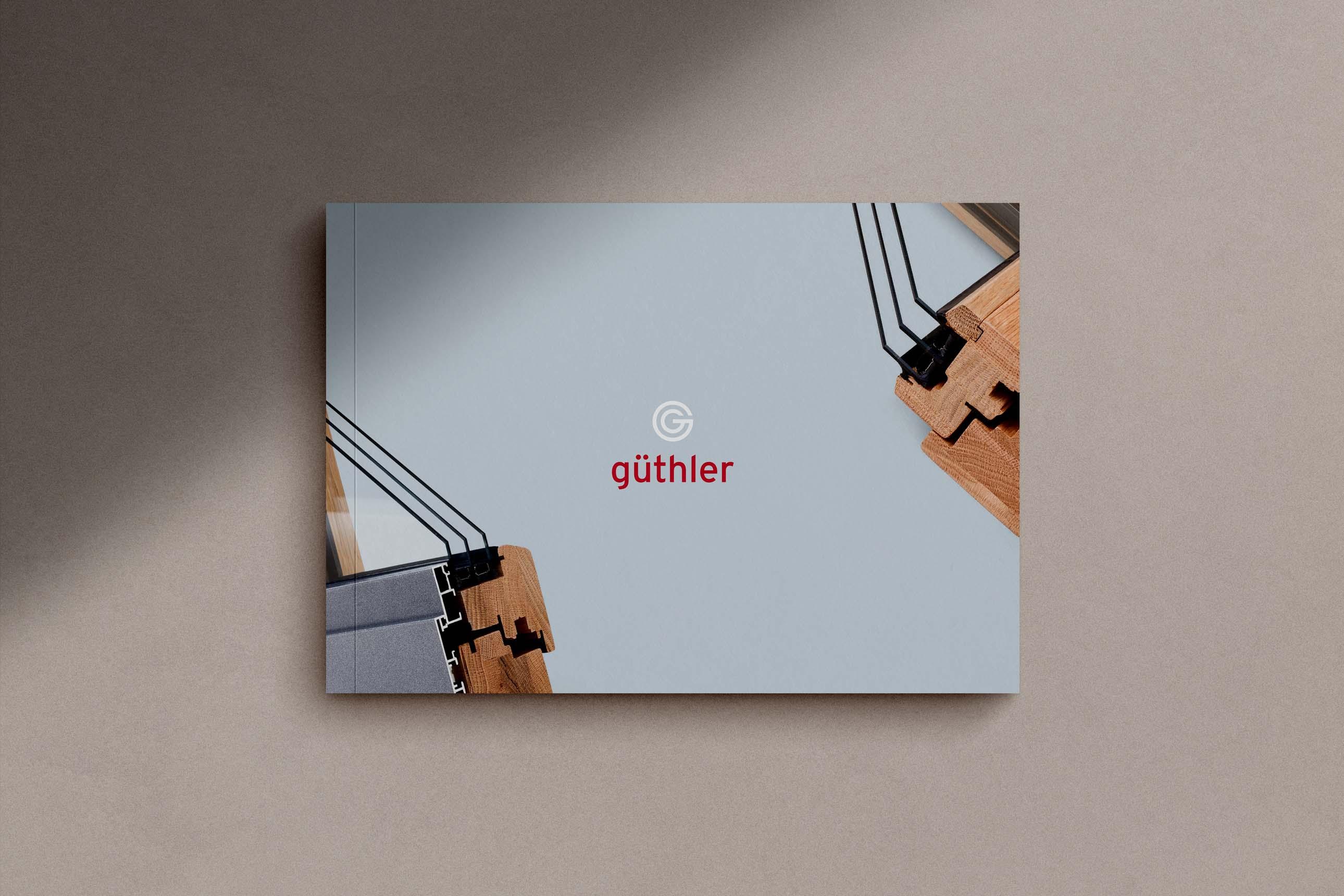 Broschüre und Produktkatalog von Güthler Glasfassaden mit Veredelung