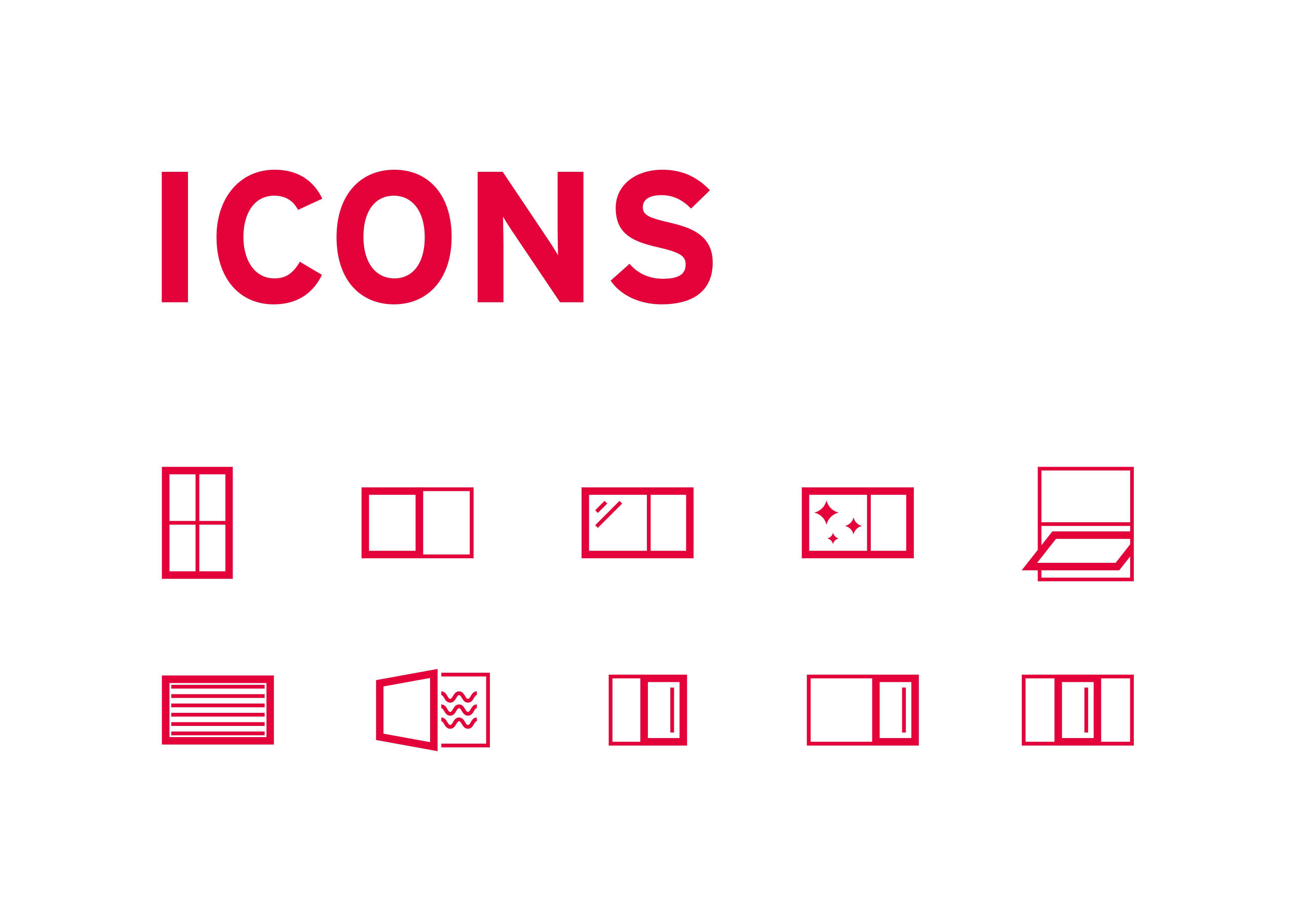 Entwicklung eines Icon Stils für Güthler Glasfassaden aus Lauben