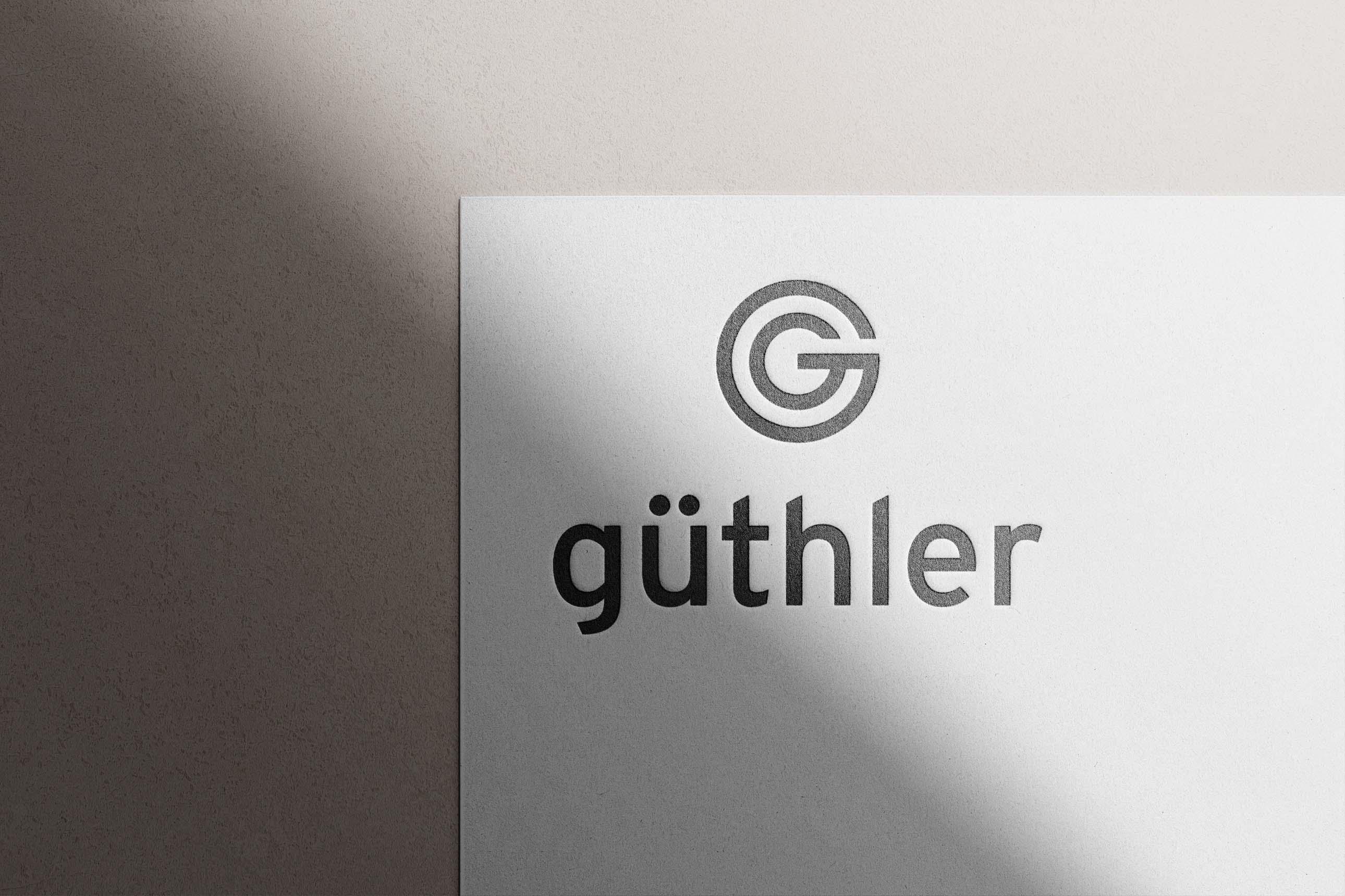 Entwicklung eines markanten und einprägsamen Signets / Logos für Güthler Glasfassaden