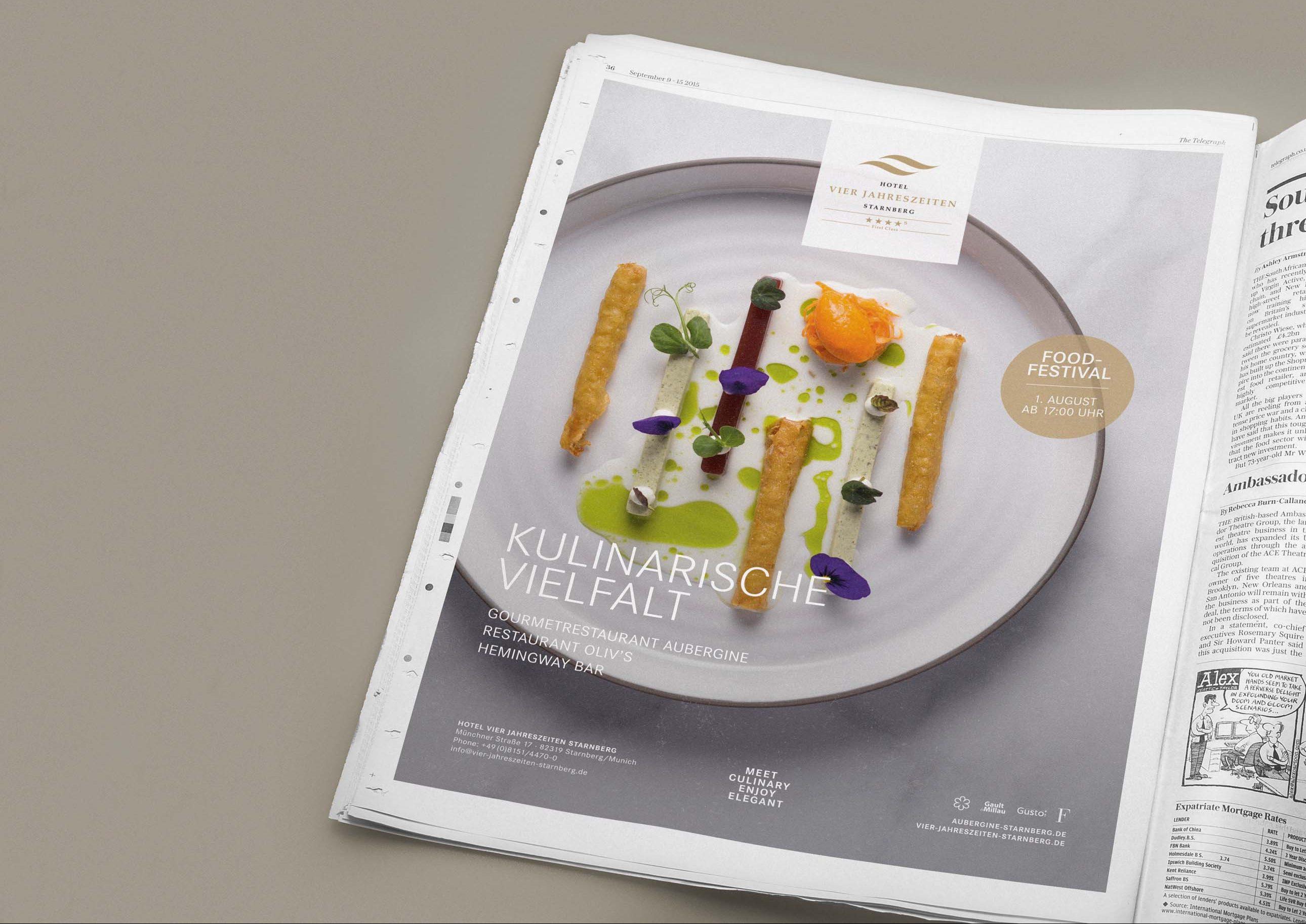 Restaurantmarketing mit Zeitungsanzeigen in regionalen Tageszeitungen