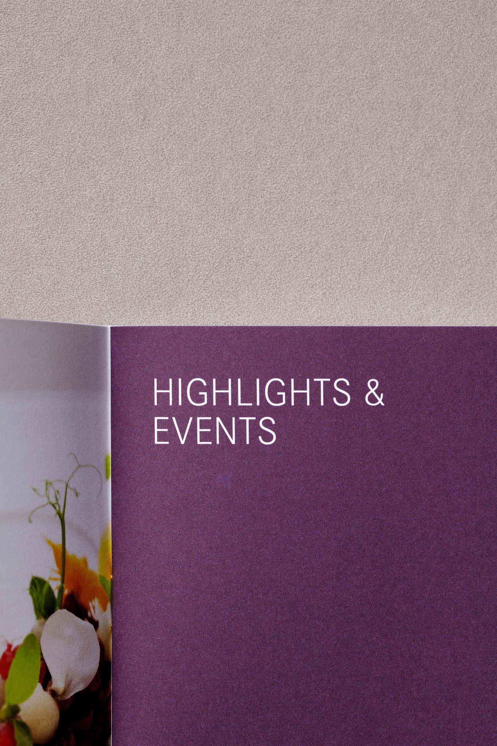 Edel gestalteter Hotelkatalog und Imagebroschüren für Hotels