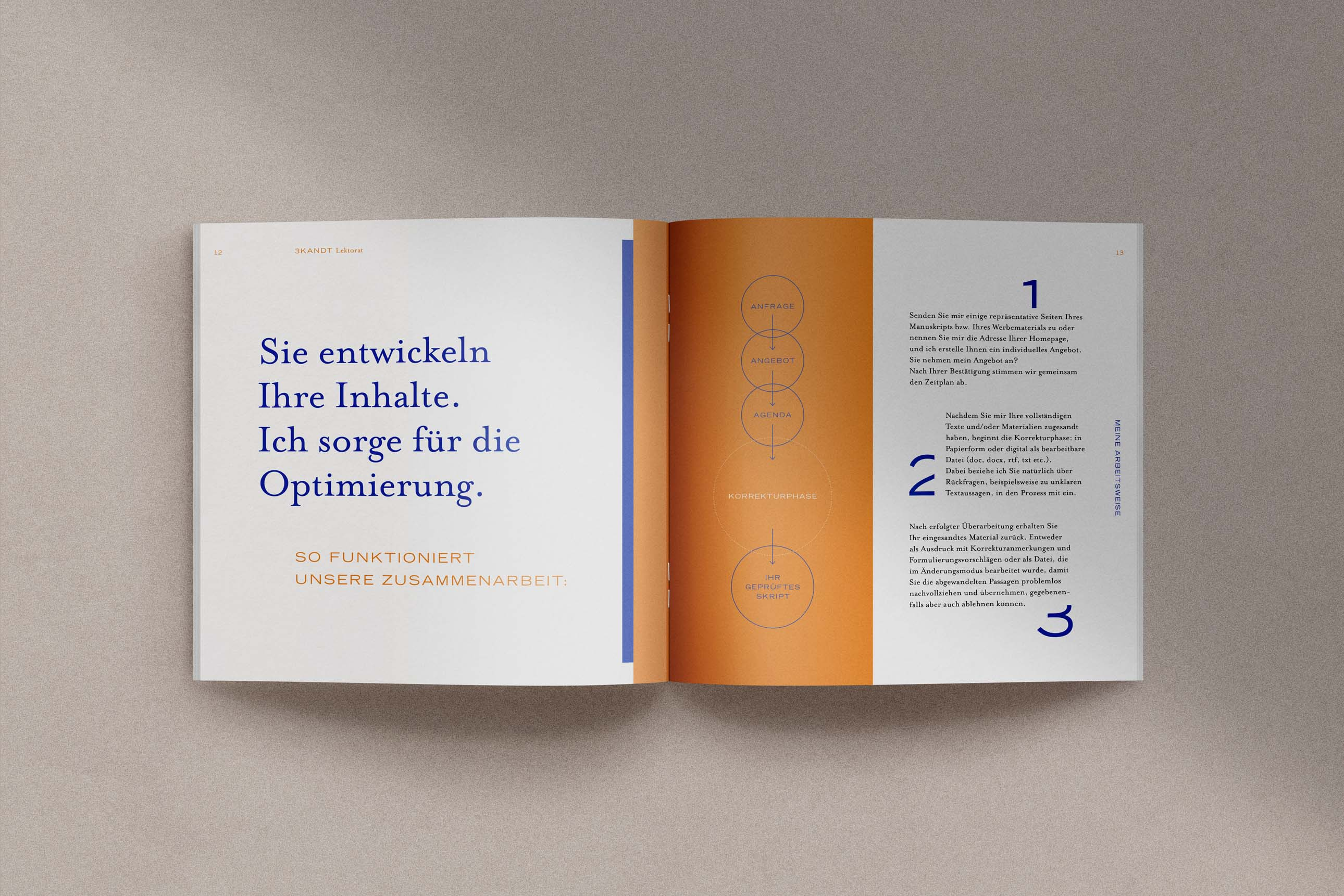 Individuelle Werbung für Lektorat Dreikandt aus Memmingen im Allgäu