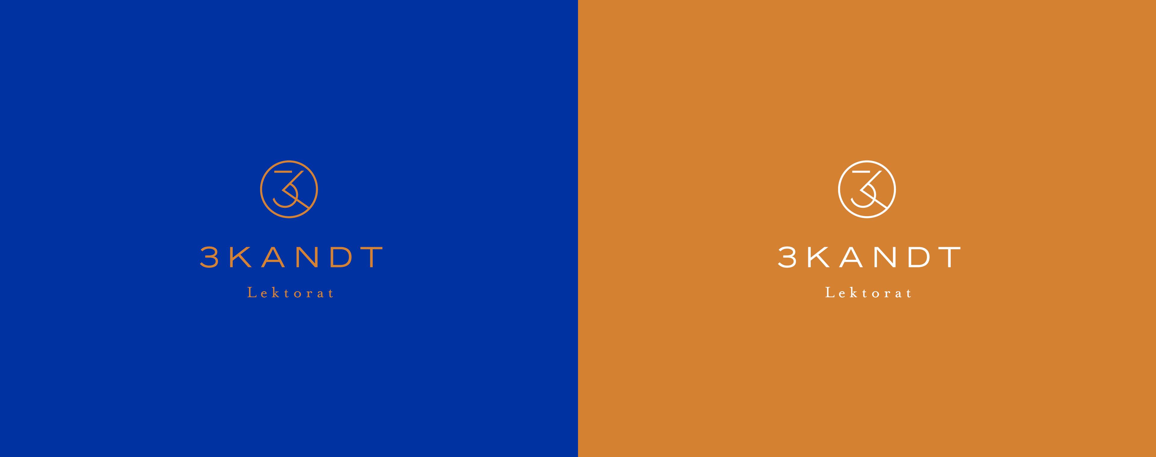Logodesign 3KANDT Lektorat Memmingen