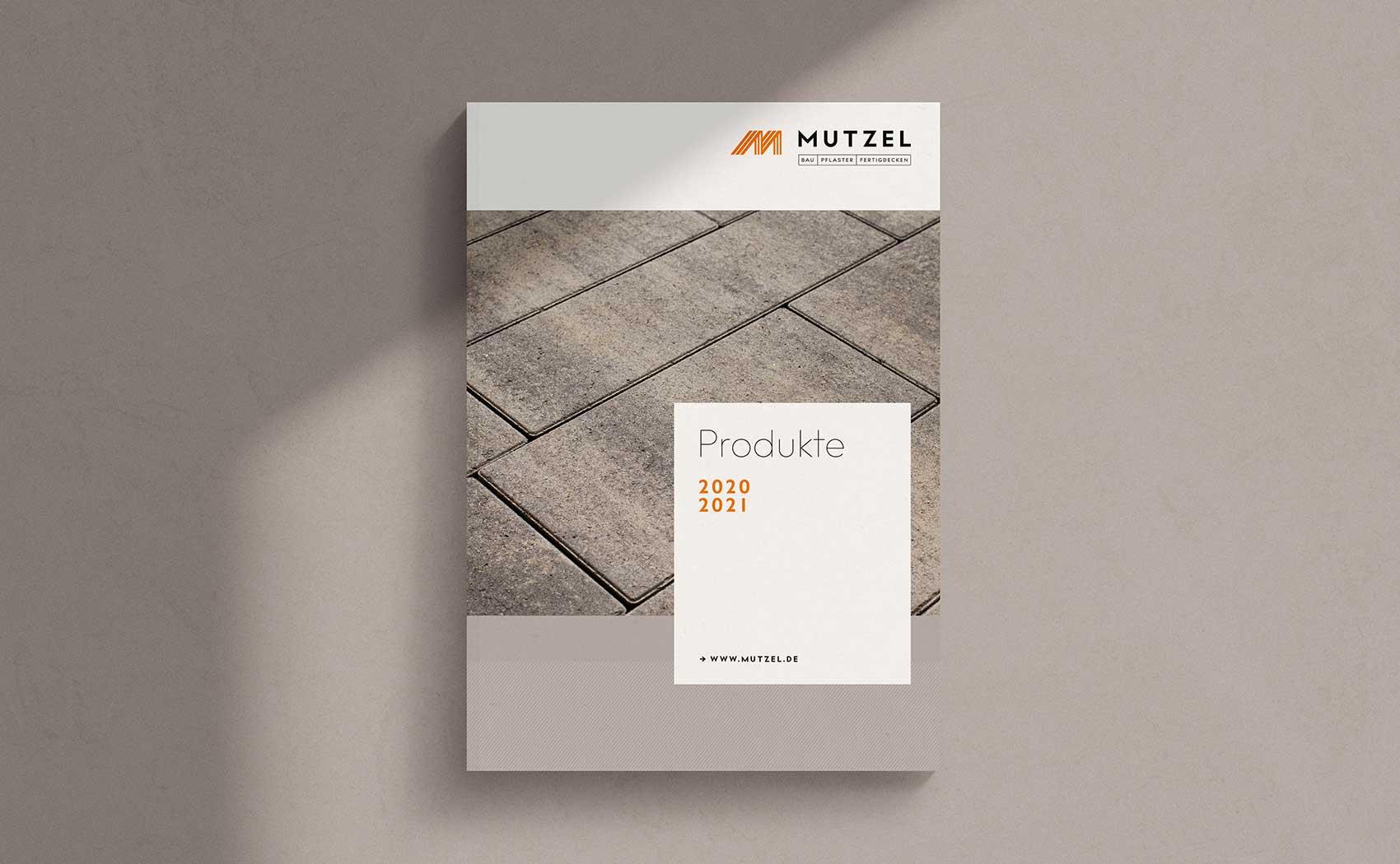 Katalogdesign für Produkte und Leistungen des Bauunternehmens Mutzel