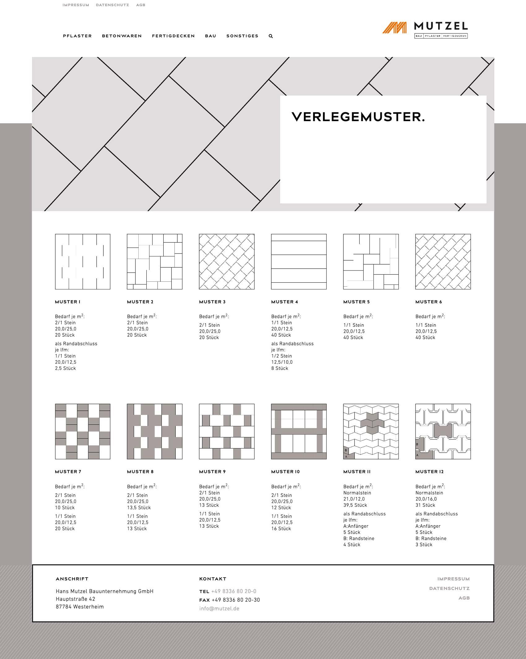 Homepage für Bauunternehmen Mutzel