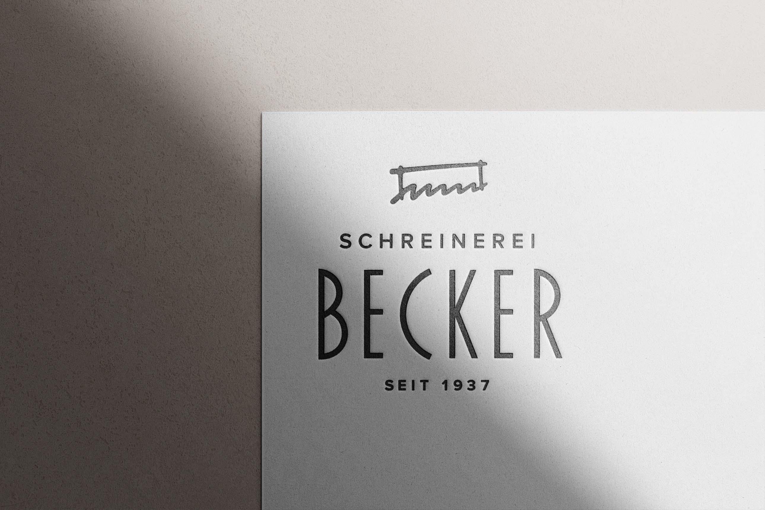 Logodesign für Schreinerei Becker aus Rammingen
