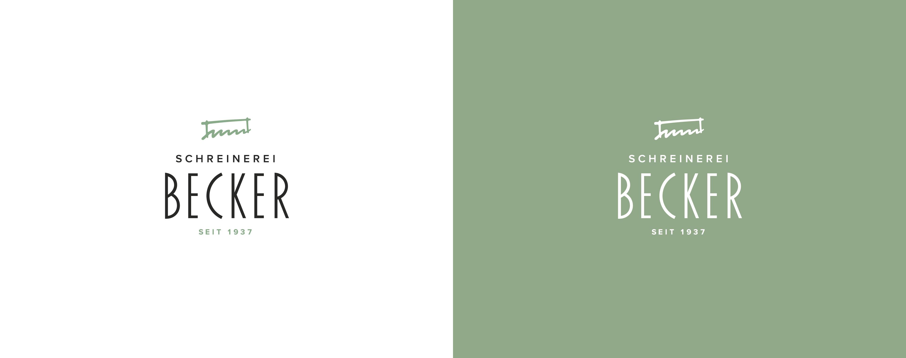 Logodesign mit Signet-Relaunch der Schreinerei Becker Rammingen