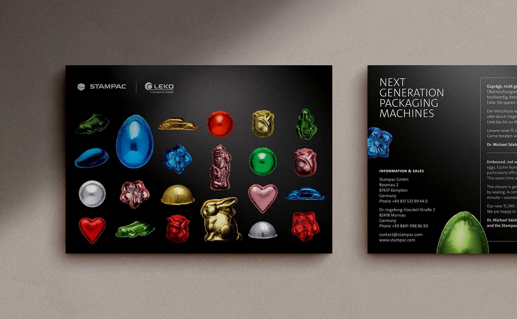 Mailing zur Produktvorstellung für den Verpackungsmaschinen-Hersteller Stampac GmbH aus Kempten