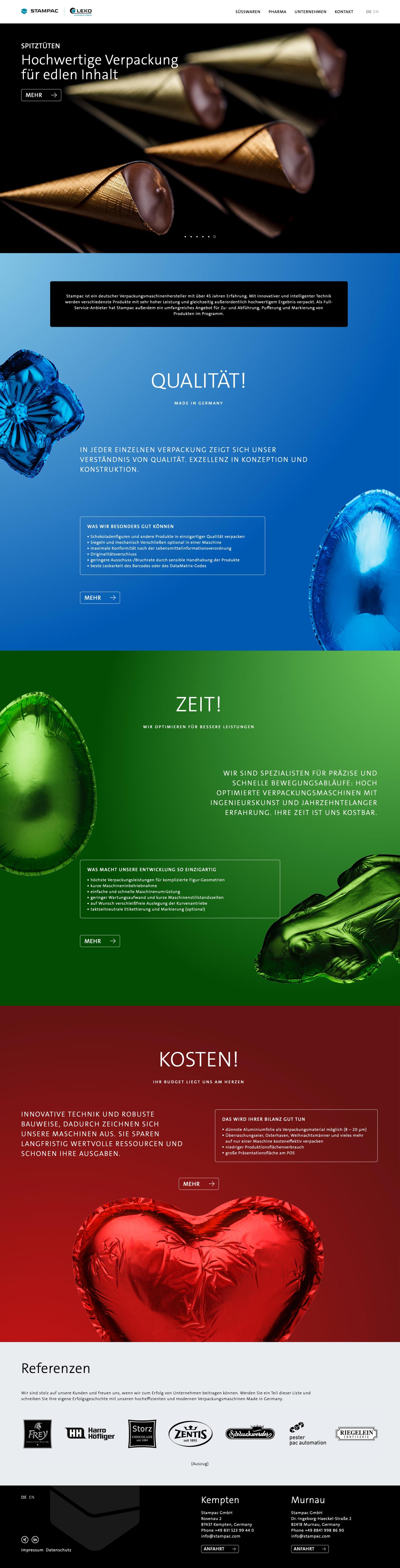 Produktvorteile hervorheben – Webdesign für Industrie und Maschinenbau