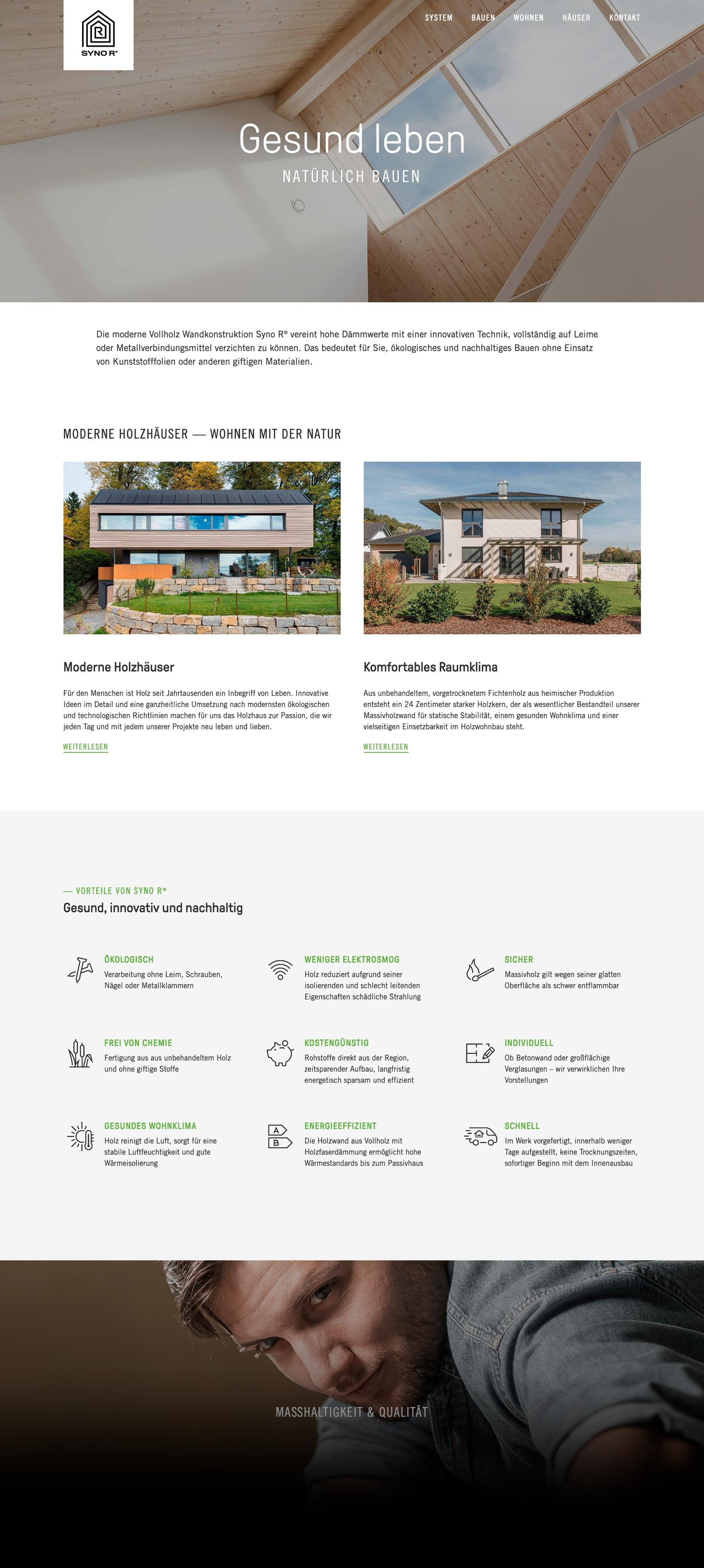 Webagentur für Vollholzhaus-Hersteller Syno R GmbH im Allgäu
