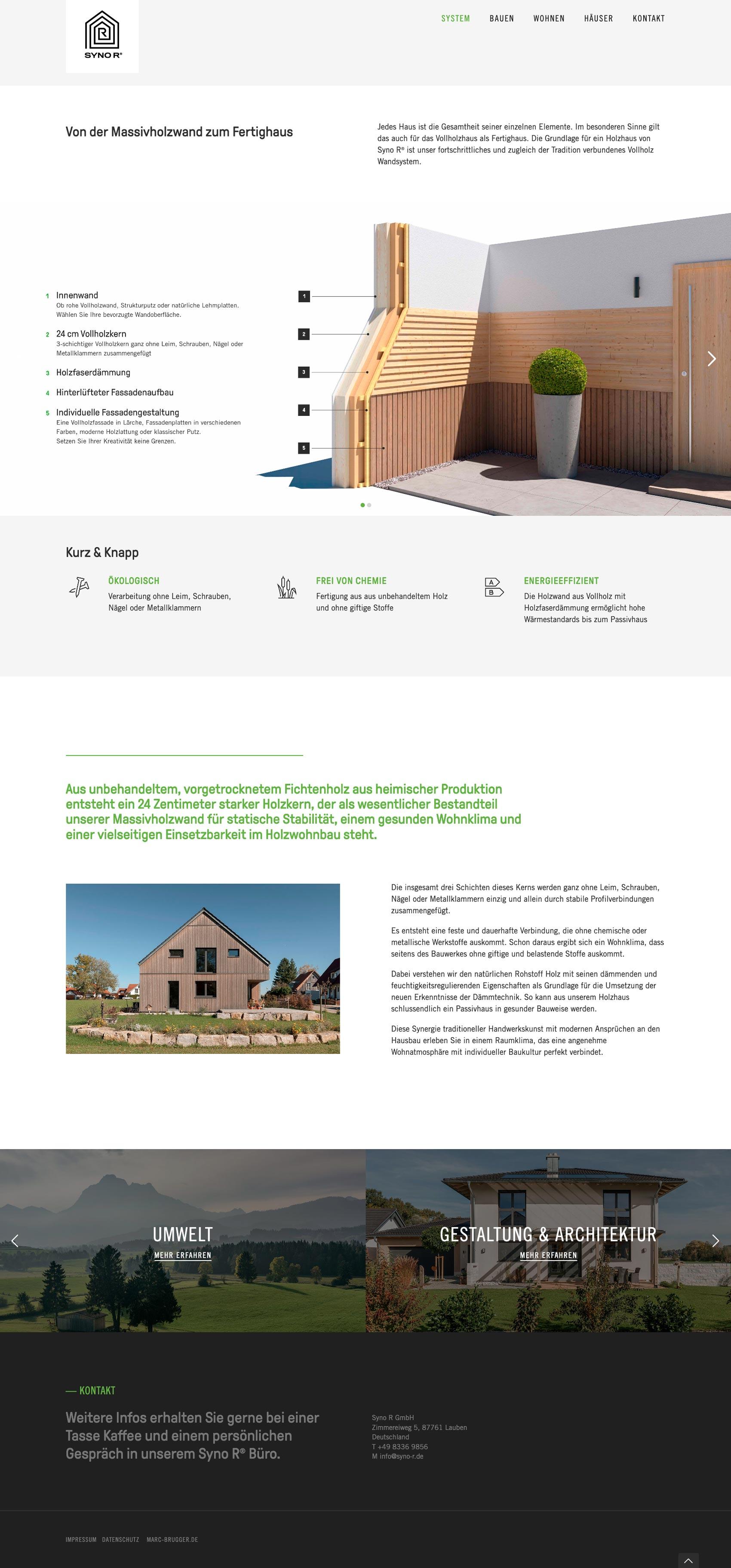 Webdesign und Content Creation für die Internetseite der Syno R GmbH
