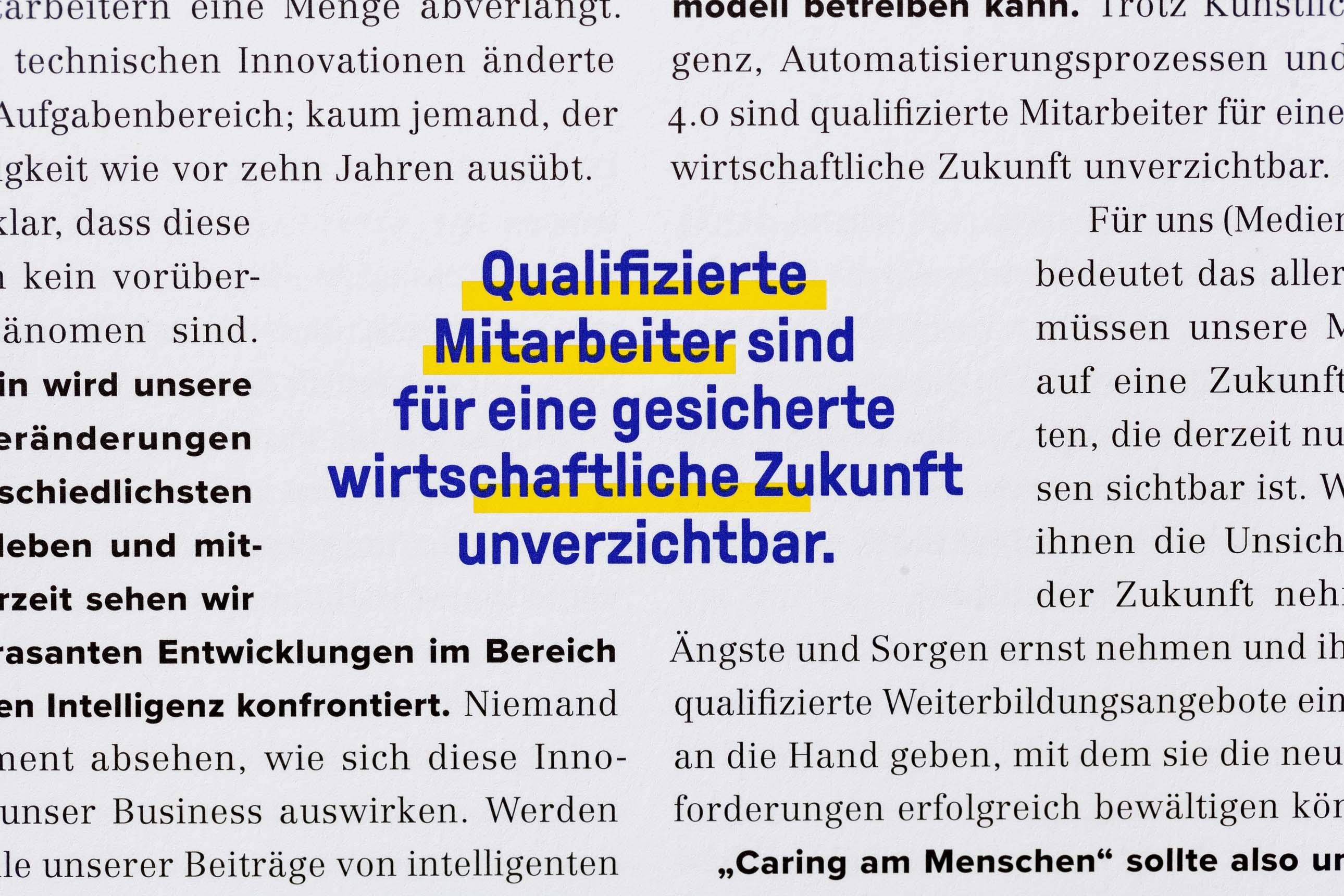 Modernes Editorial Design für einen frischen und professionellen Auftritt