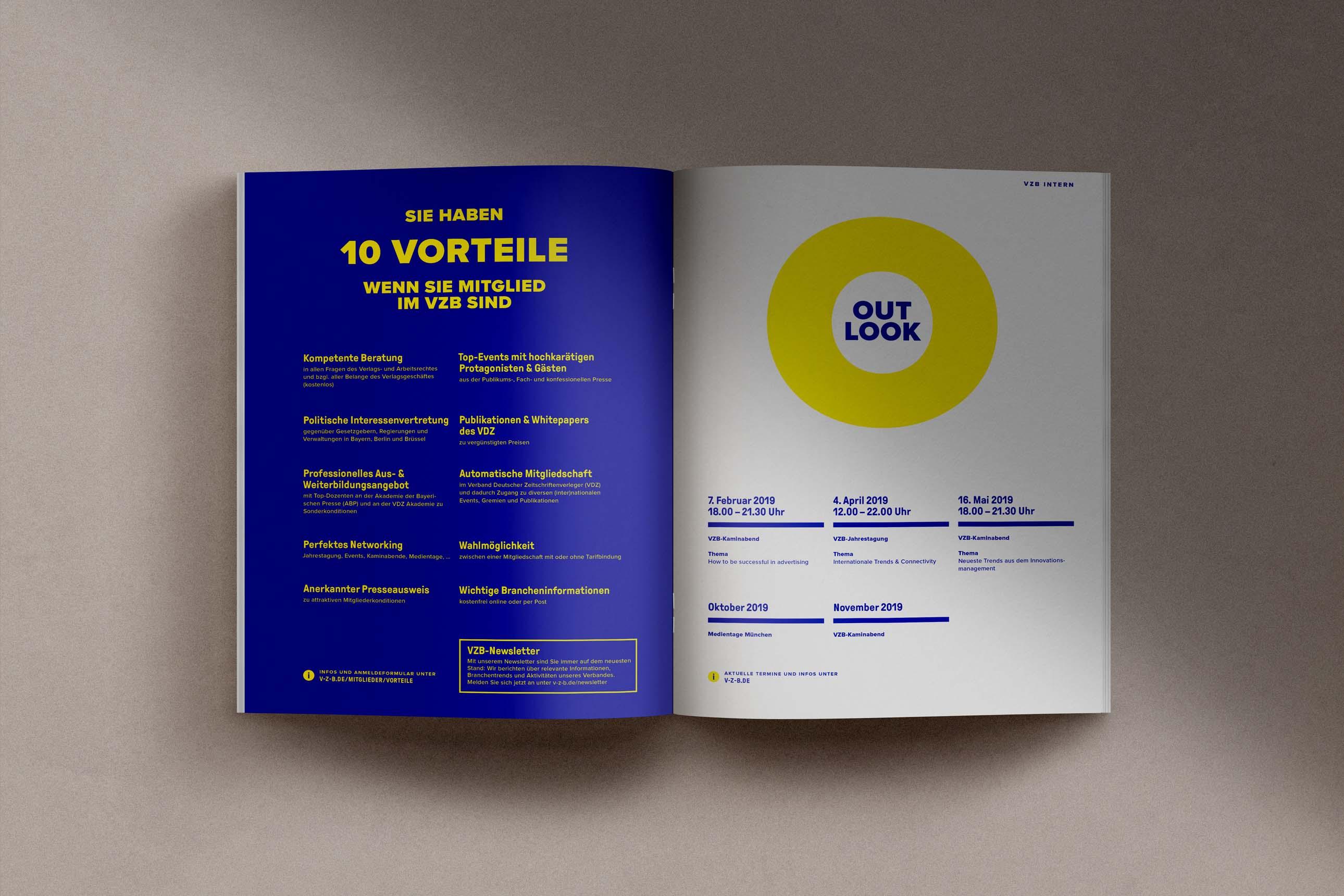Jahresmagazin des VZB Verband der Zeitschriftenverlage in Bayern