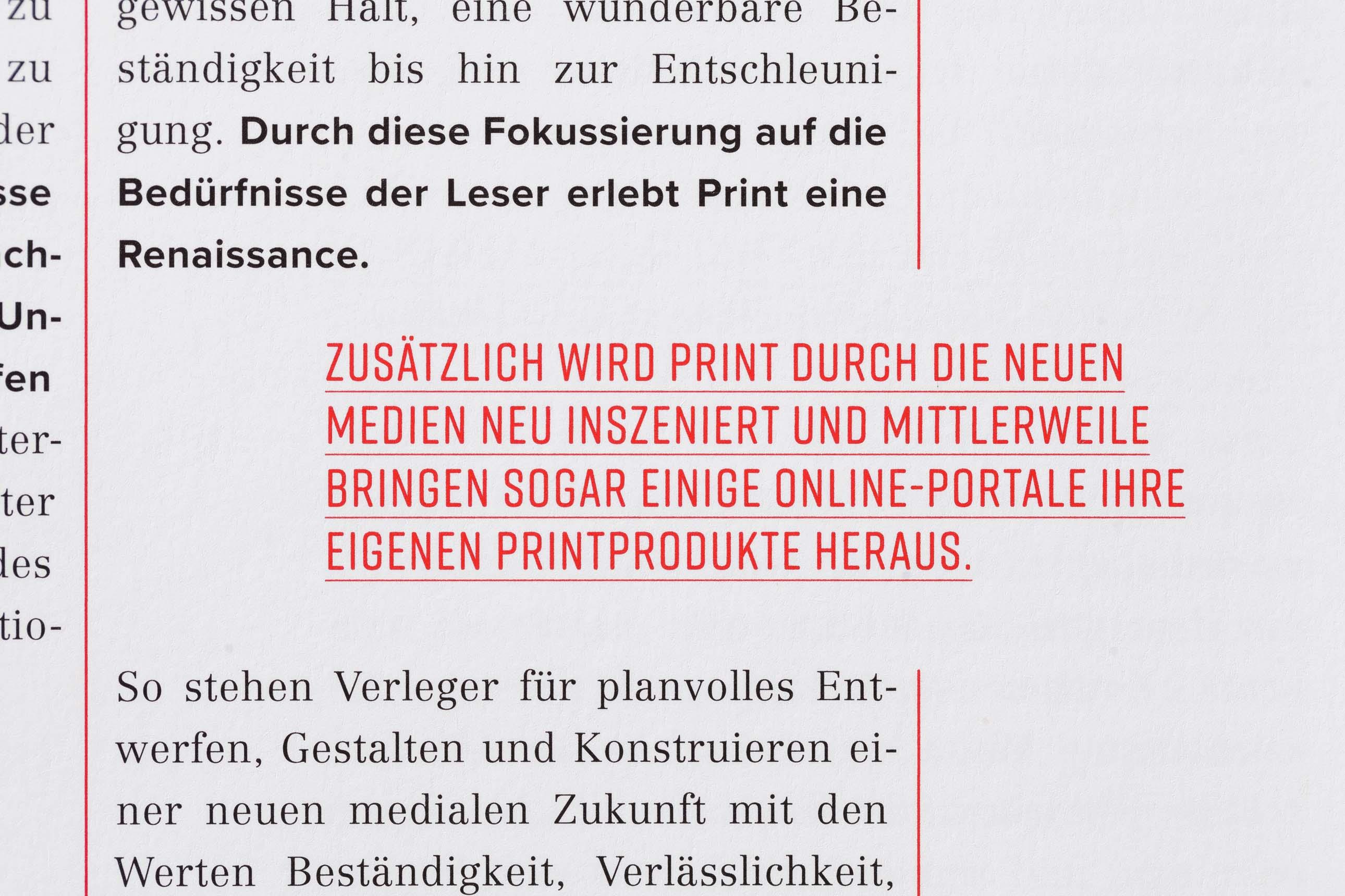 Editorial Design mit spannender Typografie im VZB-Jahresmagazin