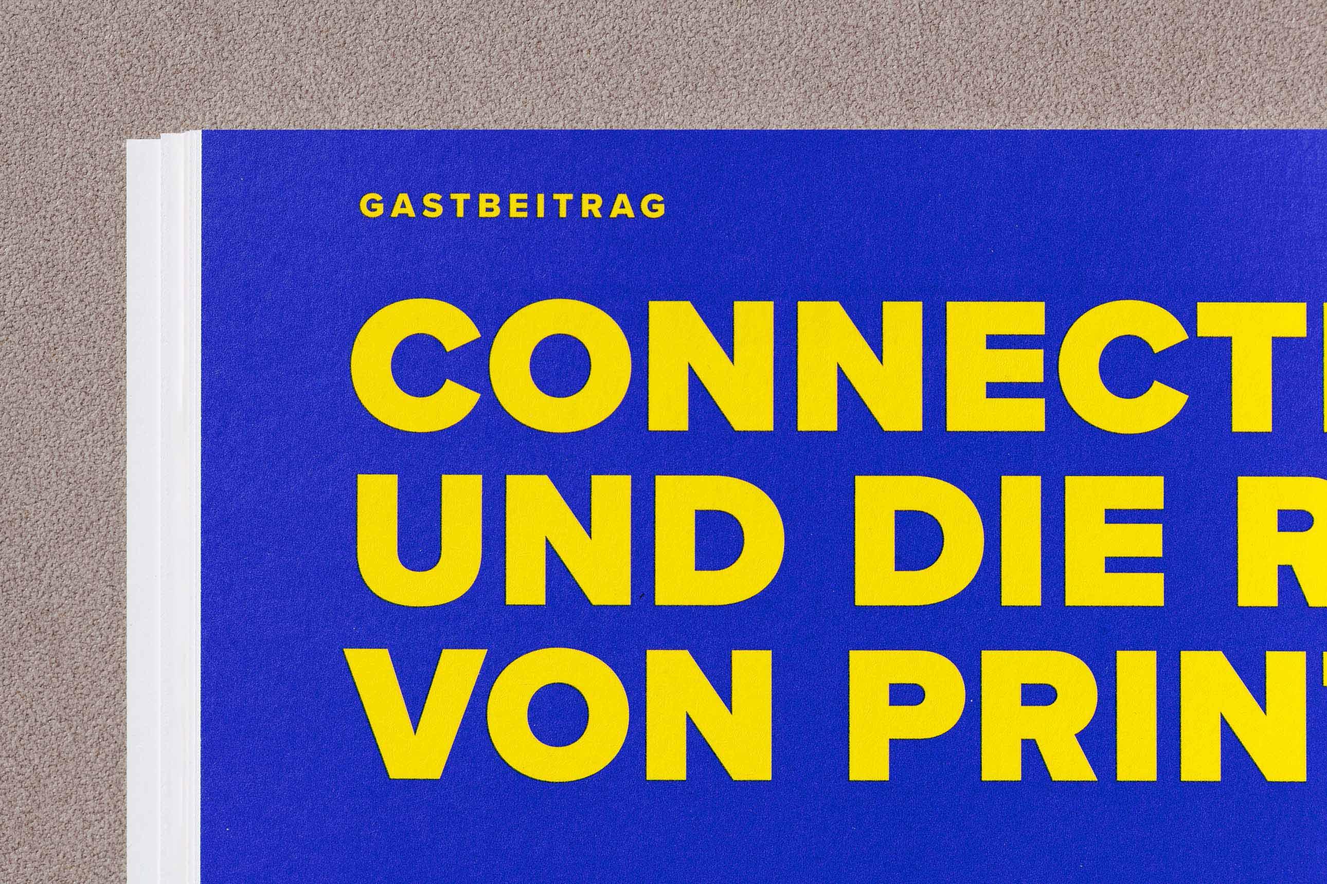 Grafik- und Editorial Design für das VZB-Jahresmagazin