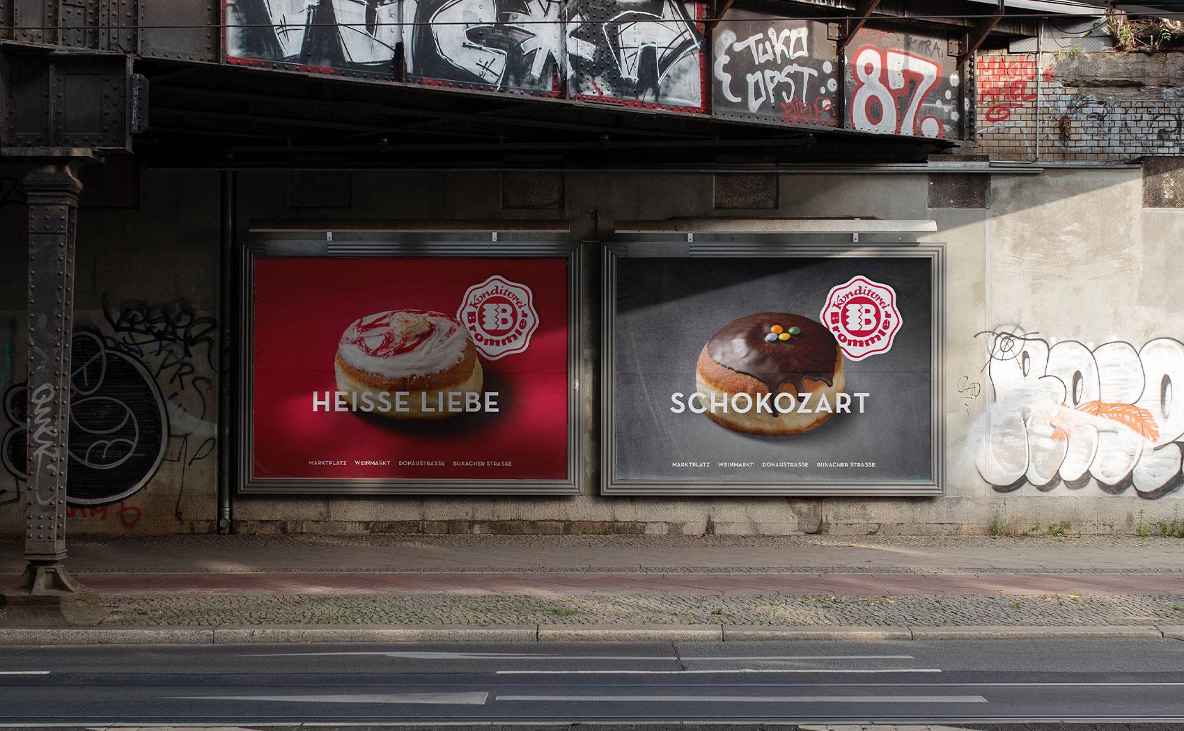 Großformatplakate OoH für Konditorei Brommler GmbH aus Memmingen