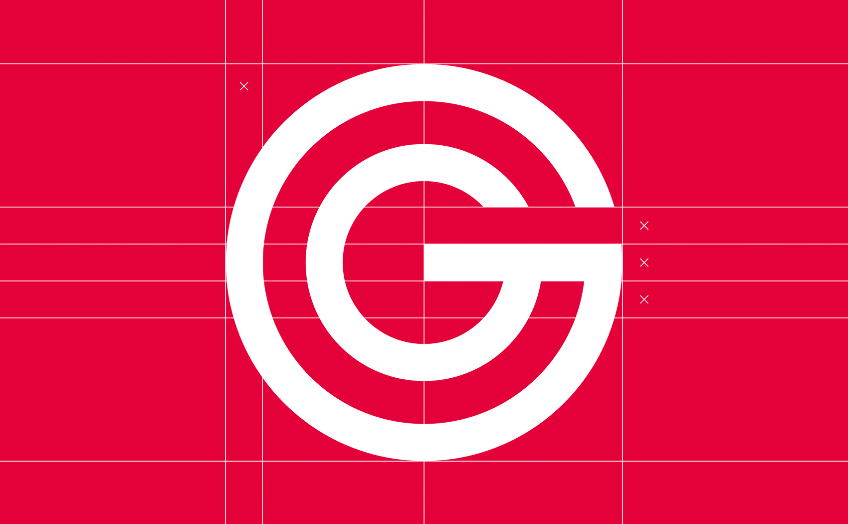 Logodesign mit geometrischem Aufbau für Güthler Glasfassaden GmbH